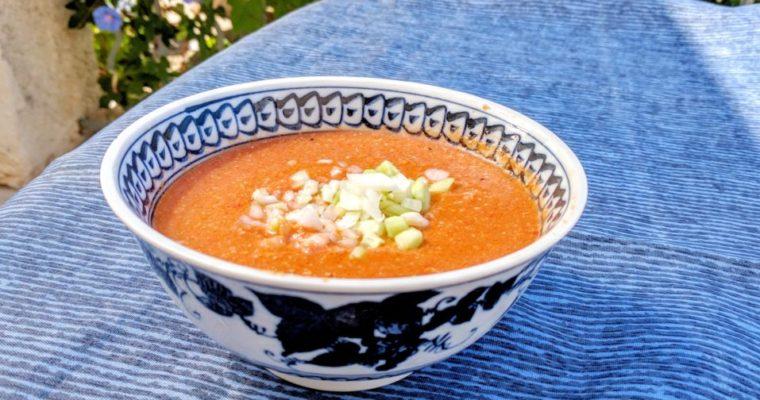 暑い夏にはスペインの夏野菜の冷製スープ、ガスパチョ!