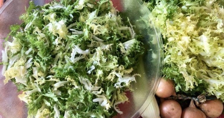 エンダイブを使ったサラダフリゼ (Salade Frisée) のレシピと美味しいサラダを作るコツ